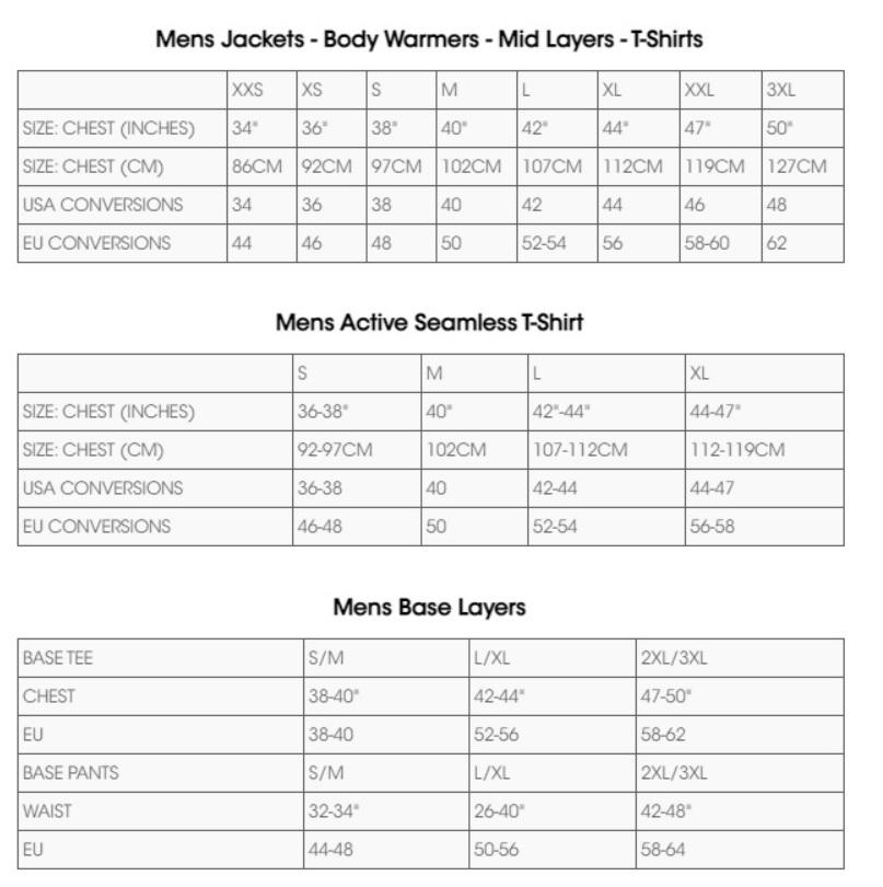Tabela velikosti Dare2B - moška oblačila