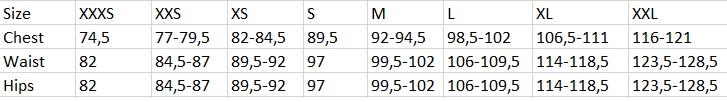 Tabela velikosti GAP - ženske hlače