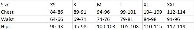 Tabela velikosti Loap - ženska oblačila