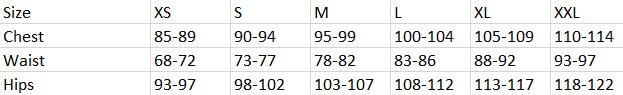 Tabela velikosti SAM73 - ženska oblačila