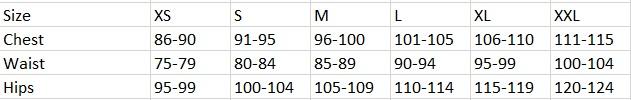 Tabela velikosti SAM73 - moška oblačila